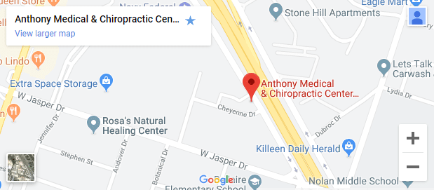 Map of Killeen TX Chiropractors